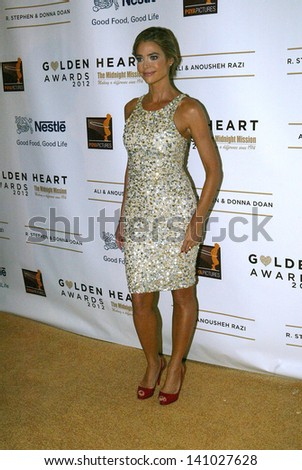 BEVERLY HILLS - MAY 7: Denise Richards arrives at The 12th Annual Golden Hearts Awards presented by The Midnight Mission on Monday, May 7, 2012 at the Beverly Wilshire Hotel in Beverly Hills, CA. - stock photo