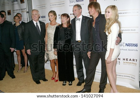 BEVERLY HILLS - MAY 7: Denise Richards, Richie Sambora, Ava Sambora & guests arrive at The 12th Annual Golden Hearts Awards on Monday, May 7, 2012 at  the Beverly Wilshire Hotel in Beverly Hills, CA. - stock photo