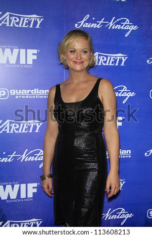 BEVERLY HILLS - SEP 21:  Amy Poehler at the 'Variety and Women in Film Pre-Emmy Event' at Scarpetta on September 21, 2012 in Beverly Hills, California