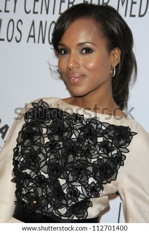BEVERLY HILLS - SEP 11: Kerry Washington at the PaleyFest for the ABC Fall TV Preview at The Paley Center for Media on September 11, 2012 in Beverly Hills, California - stock photo