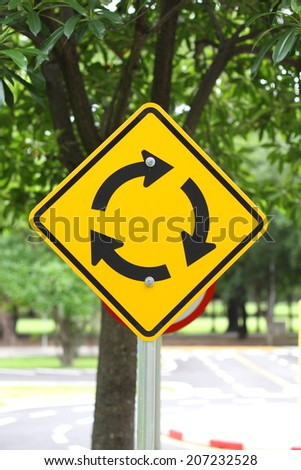 Beware Circle  - stock photo