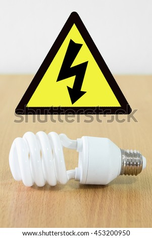 Beware of high voltage - stock photo