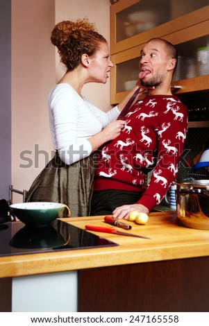 Beware of me when I am cooking - stock photo