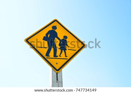 Beware People Children Crossing Street School Stock Photo Edit Now
