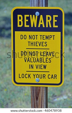 Beware Sign - stock photo