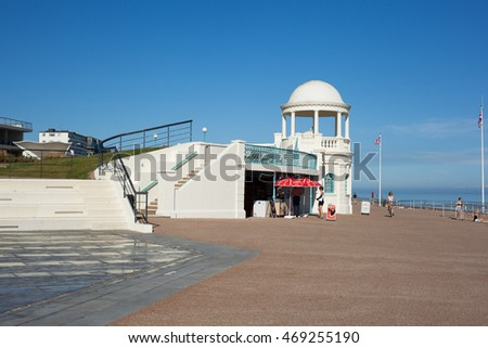 BEXHILL-ON-SEA, ENGLAND - JULY 18. De La Warr Pavilion, Bexhill on July 18, 2016 , East Sussex, England, selective focus