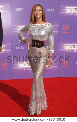 Beyonce Knowles at the 2007 BET Awards at the Shrine Auditorium, Los Angeles. June 26, 2007 Los Angeles, CA Picture: Paul Smith / Featureflash - stock photo
