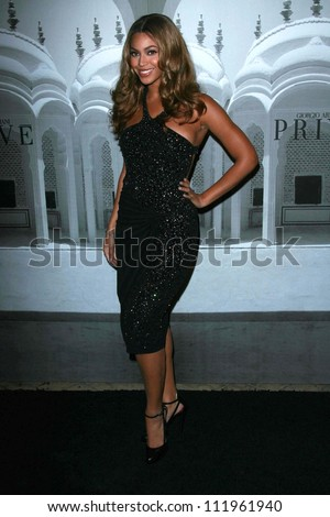 Beyonce Knowles at the Giorgio Armani Prive Show to celebrate the Oscars. Green Acres, Los Angeles, CA. 02-24-07 - stock photo