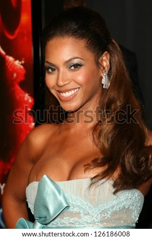 "Beyonce Knowles at the premiere of ""Dreamgirls"". Wilshire Theatre, Los Angeles, California, December 11, 2006. - stock photo"