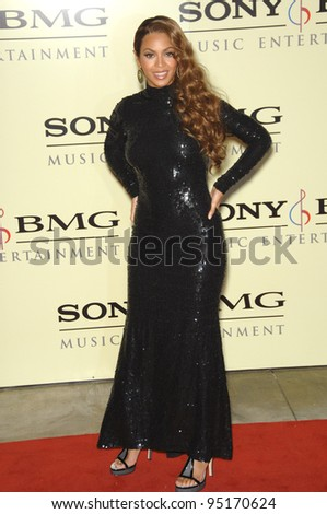 BEYONCE KNOWLES at the Sony BMG post-Grammy Party at the Beverly Hills Hotel. February 12, 2007  Beverly Hills, CA Picture: Paul Smith / Featureflash - stock photo