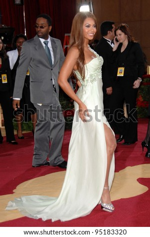 Beyonce Knowles at the 79th Annual Academy Awards at the Kodak Theatre, Hollywood. February 26, 2007  Los Angeles, CA Picture: Paul Smith / Featureflash - stock photo