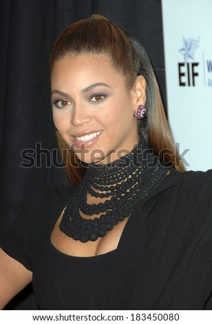 Beyonce Knowles at Unforgettable Evening Benefiting Entertainment Industry Foundation's Women's Cancer Research Fund, Beverly Wishire Hotel, Beverly Hills, 2/10/2009 - stock photo