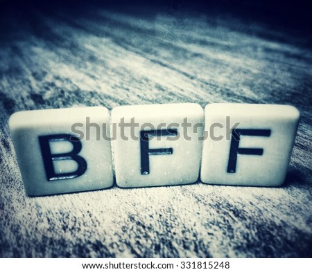 BFF For Best Friends Forever Spelled In Letter Tiles - stock photo