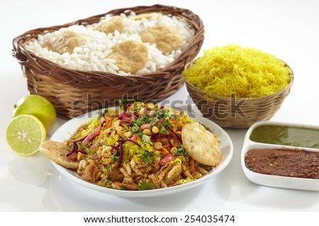 Bhelpuri, Chat item, India - stock photo