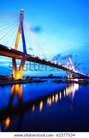 Bhumibol Bridge of Thailand - stock photo