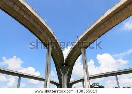 Bhumibol Bridge, The Industrial Ring Road Bridge in Bangkok, Tha