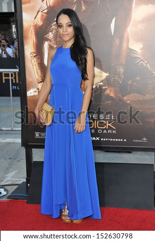 """Bianca Lawson at the world premiere of """"Riddick"""" at the Regency Village Theatre, Westwood. August 28, 2013  Los Angeles, CA Picture: Paul Smith / Featureflash - stock photo"""