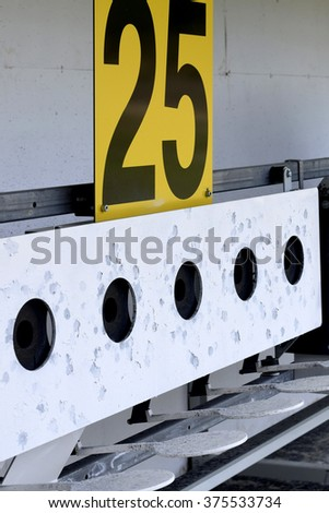 Biathlon . Target sports shooting - stock photo