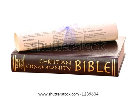 bible and scroll