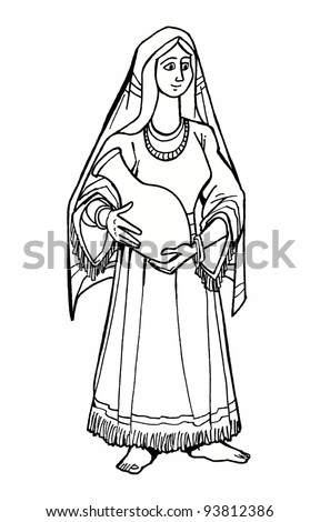Bible characters stock photos images pictures for Bible characters coloring pages