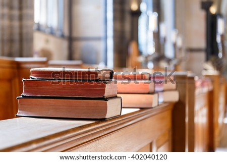 Bible in church - stock photo