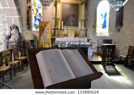 Bible in the Cathedral
