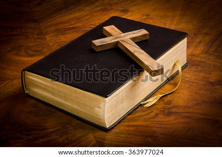 Bible, Scriptures of the Christians - stock photo