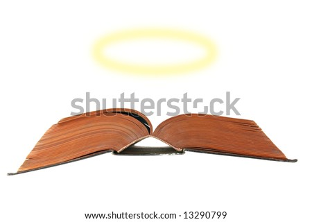 Bible with a halo