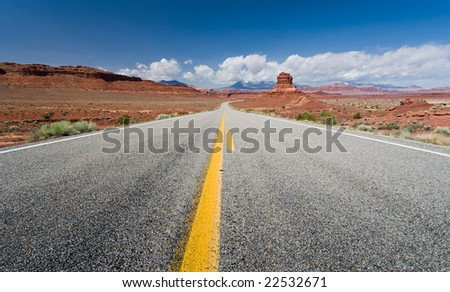 Bicentennial Highway, picturesque byway in southern Utah - stock photo