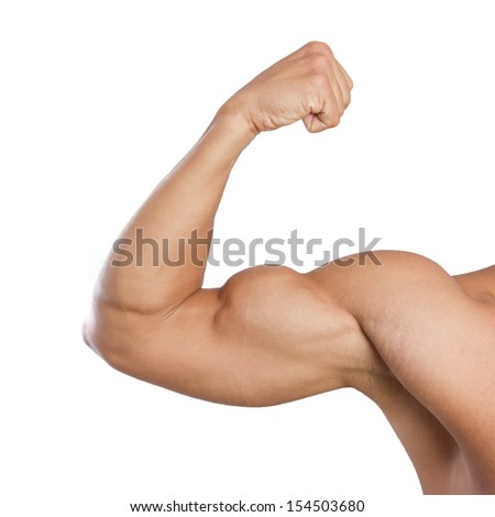 Stock Photo Biceps Strong Muscles Male Arm Flexing