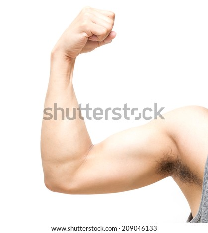 biceps on white background