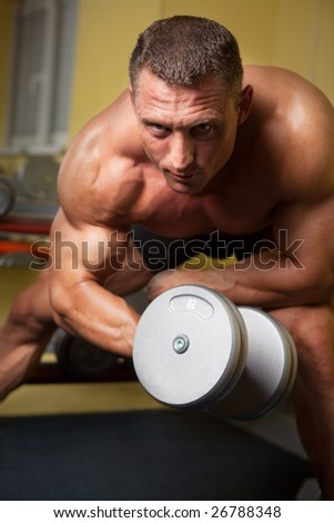 Biceps shot of a strong handsome man