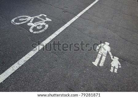 Bicycle and pedestrian signs