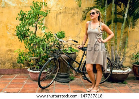 Bicycle as the new transport - stock photo