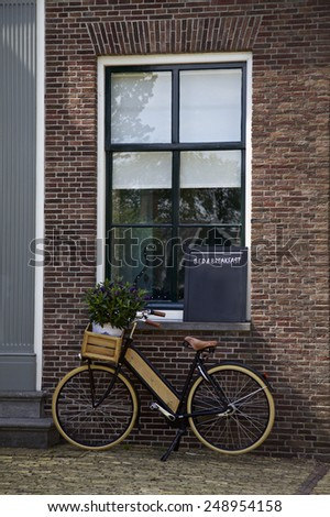 Bicycle, Bed and Breakfast sign, home, Netherlands, Europe