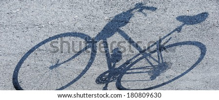 bicycle - bicycle path - shadow