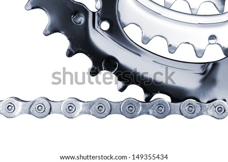 bicycle chain - stock photo