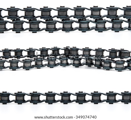 Bicycle chain on white background - stock photo
