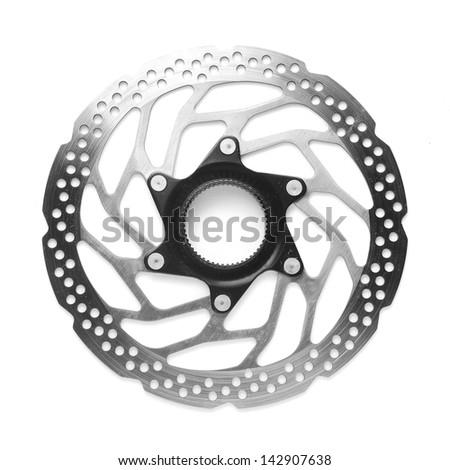 bicycle disc brake rotor - stock photo