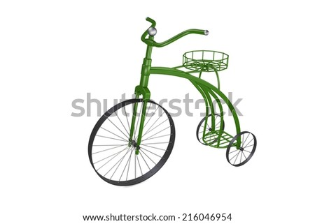 Bicycle Flower Stand - stock photo