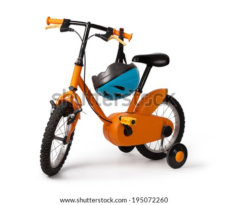 bicycle for children isolated on white background - stock photo