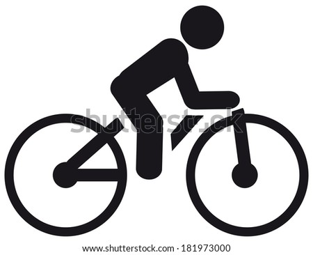 Bicycle icon - stock photo