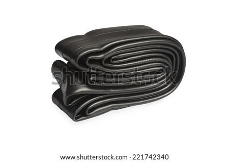 Bicycle inner tube - stock photo