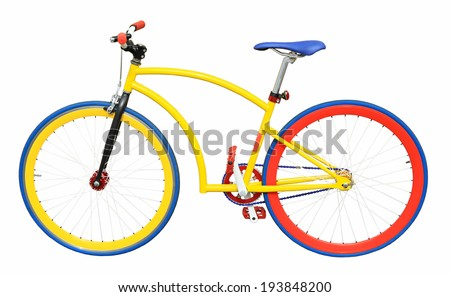 Bicycle isolated on a white background - stock photo