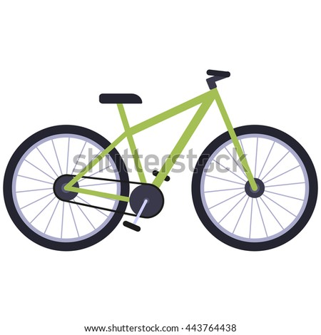 Bicycle isolated on a white background.