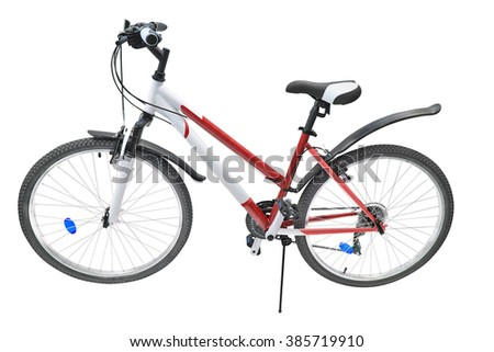 Bicycle isolated under the white background - stock photo