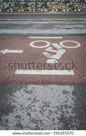 Bicycle lane bicycle path and coastal road background
