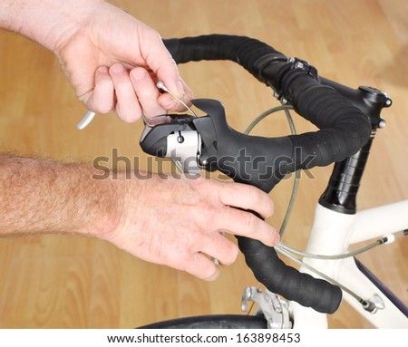 Bicycle Maintenance-replacing the brake cable on a road bike