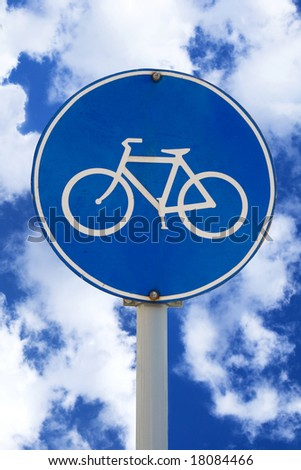 bicycle post clipping path included