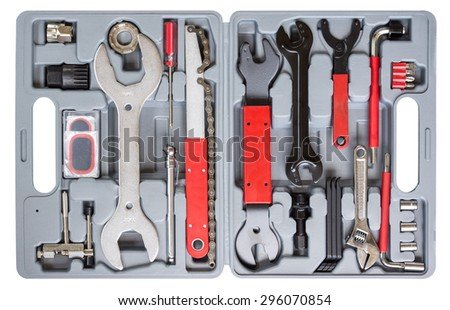 bicycle professional tool box - stock photo